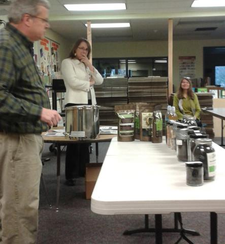 Tom, Renel, and Michelle Heller with Biochar in the Summit's Classroom sessions
