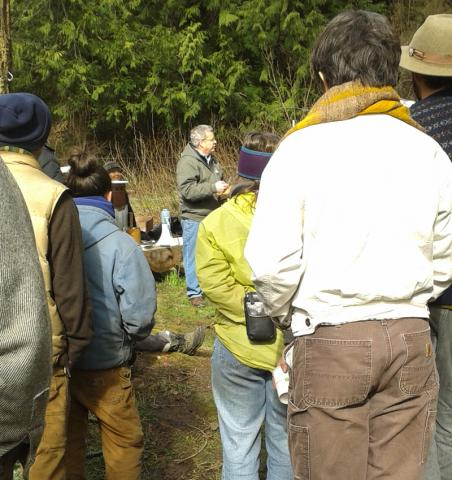 Tom Miles Leading the Biochar Workshop
